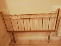 VINTAGE CLASSIC GOLD BRASS DOUBLE HEADBOARD 140CM WIDE, 104CM HIGH, BRAND NEW, 2 AVAILABLE