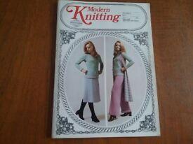 Vintage Modern Knitting by Knitmaster volume 21 No2 Machine Knitting Patterns