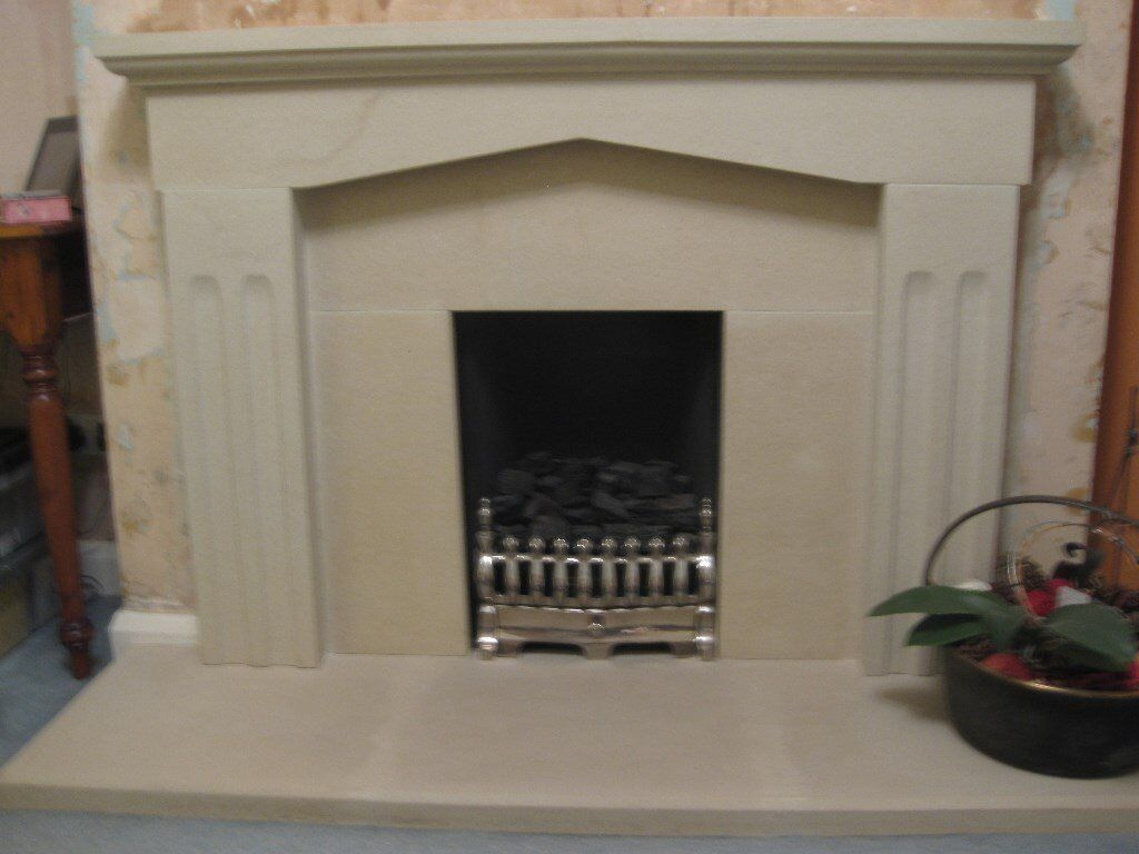 Composite Stone Effect Fire Surround And Hearth In