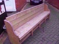 Church Pew Style Garden Bench Made to measure Deliver Available