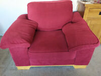 Red Armchair with Storage Arm from Reid Furniture