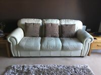 Cream leather suite