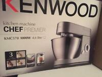 **BNIB KENWOOD KMC570 CHEF PREMIER STAND MIXER BLENDER 2 IN 1** WITH ATTACHMENTS