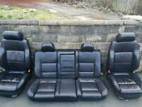 Heated Black Leather Seats Full Set MK4 Golf GTI Audi A3 Bora Passat Seat Leon 5 Door