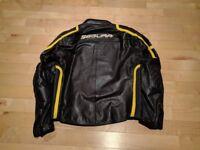 Segura Apache Leather Jacket Yellow/Black - Size 3XL
