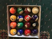 Used pool balls.