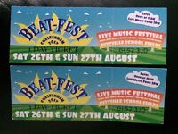 x2 BEAT-FEST adult tickets 26th & 27th August (BANK HOLIDAY WEEKEND)