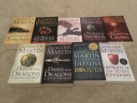 Full set Game of Thrones books PLUS two extras!!