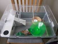Hamster cage with some extras