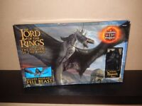 """Rare Lord of the Rings - FELL BEAST Deluxe Poseable 32"""" wingspan"""
