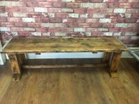 Rustic Scaffold Board Bench - Can Deliver - Excellent quality - Inside or Outside use
