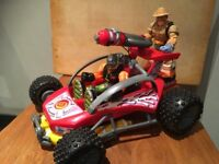 VGC RARE 2001 Fisher Price Mattel Rescue Heroes DUNE BUGGY(also available=7 Heroes figures &jet )
