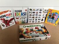 Lego book and game bundle