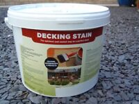 10 litres of Oak decking stain/waterproof protection brand new unopened
