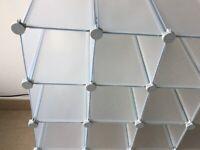 Shoe Storage - Interlocking cubes ( 32 in total )