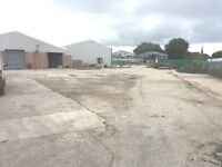 LARGE STORAGE YARD / INDUSTRIAL YARD TO LET IN BURY APPROX 1 ACRE