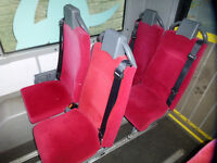 Generic or VW T5 Minibus Van Seats fitted with 3 Point Seat Belts