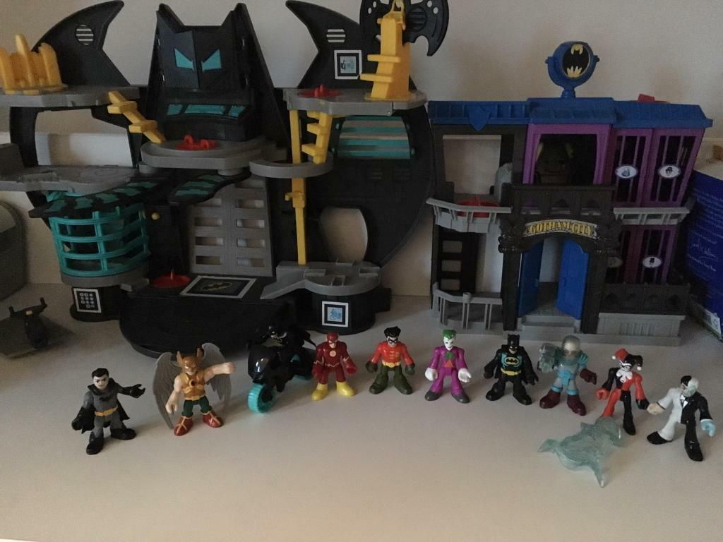 Imaginext DC Batcave & Gotham Jail with Characters