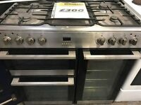 ***LAMONA STAINLESS STEEL 110 CMS GAS RANGE DOUBLE COOKER+GREAT WORKING+GOOD CONDITION+VERY CLEAN***