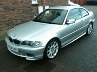 2003 53 BMW 318 2.0 CI SPORT COUPE ** LEATHER ** ONLY 88000 MILES ** M SPORT KIT **