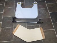 Wheelchair tray and banana transfer board