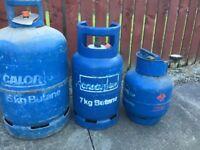 Three gas bottles