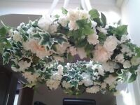 Wedding decoration. Stunning floral hoop with silk flowers & foliage. Ideal for a barn or marquee