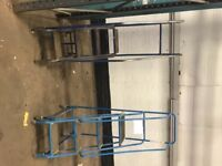 Selection of alloy step ladders in different sizes