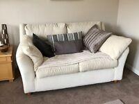 Cream sofas 2 and 3 seater