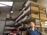 Warehouse, pallet, racking, shelving, 5 or 6 bays, double depth shelves.