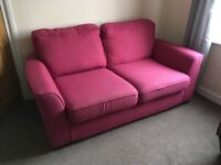 Dfs pink two seater sofa