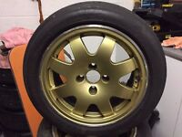"Clio williams Gold Speedline 15"" alloys with Yokohama tyres set of 4 LOCATED IN LE67 coalville"