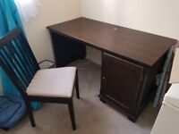 Solid wood Office desk and chair for sale
