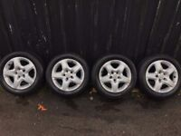 Vauxhall wheels for vectra zafira signum tires like new