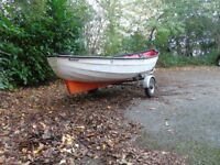 12ft open fishing boat,