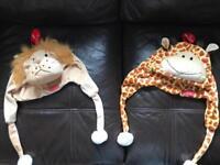 2 children's cute animal hats!