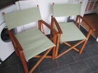 PAIR Director Style Garden Chairs - Green - Brand New