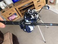 Full set of Fazer golf clubs