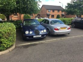 two s type jags for sale £500 each or £800 for two, call 07931472317, both were daily drivers.