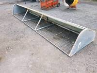 14ft iae hay feeder rack bolts on wall etc stables farm tractor