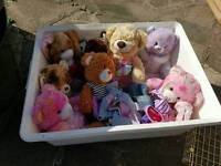 Large bundle of build a bear teddies and clothes