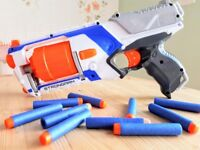 Three Nerf Guns, with Vest and over 100 bullets