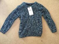 Marks and spencer boys blue jumper age 3-4 brand new