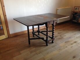 Vintage drop leaf table for collection near Kinross