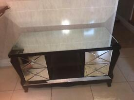 Mirrored tv cabinet