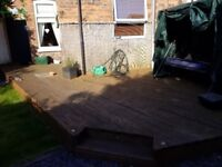 Decking 32 square meters for recycling