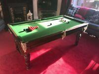 Vintage Slate Bed 6ft Snooker Table