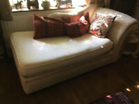 Chaise longue style sofa bed
