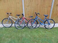 2 Ladies' bikes, 1 boys' bike, various accessories, sold separately or together