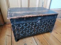 Antique Swat Valley Carved Box / Chest/ Trunk